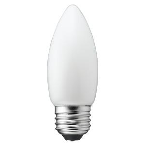 電材堂 【在庫限り】LED電球 C36シャンデリア形 ホワイトタイプ 25W形相当 電球色 口金E26 LDC2LG36WHDNZ