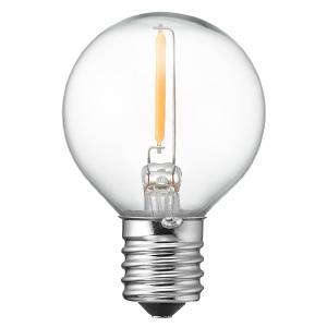 電材堂 LED電球 G40ボール形 クリアタイプ 10W形相当 電球色 口金E17 LDG1LG40E17CDNZ