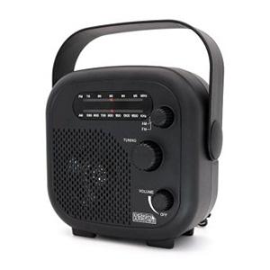 ヤザワ 【在庫限り】【アウトレット ワケあり】AM・FMシャワーラジオ 防水性能IPX5 ブラック SHR02BK