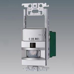 パナソニック 熱線センサ付自動スイッチ 《かってにスイッチ》 壁取付 2線式・3路配線対応形 LED専用1.2A スイッチスペース付 ウォームシルバー WTX18115SK