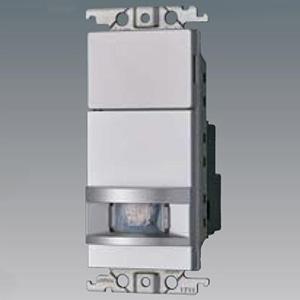 パナソニック 熱線センサ付自動スイッチ子器 《かってにスイッチ》 壁取付 DC12V ブランクチップ付 ウォームシルバー WTX1911SK