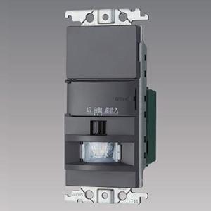 パナソニック 【受注生産品】熱線センサ付自動スイッチ 《かってにスイッチ》 壁取付 2線式・3路配線対応形 LED専用1.2A ブランクチップ付 グレー WTK1811HK