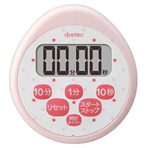 ドリテック 時計付防水タイマー 最大セット時間99分50秒 ピンク T-565PK