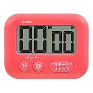 ドリテック 大画面タイマー 《シャボン》 最大セット時間99分59秒 ピンク T-541PK