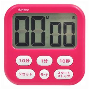 ドリテック 大画面タイマー 《シャボン6》 最大セット時間99分50秒 ピンク T-542PK