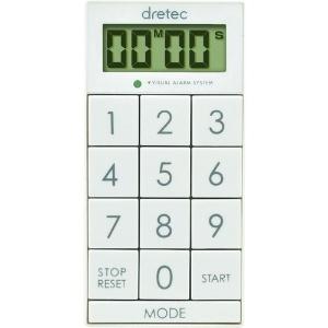 ドリテック デジタルタイマー 《スリムキューブ》 最大セット時間99分99秒 ホワイト T-520WH