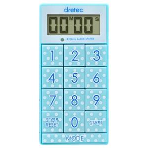 ドリテック デジタルタイマー 《スリムキューブ》 最大セット時間99分99秒 ブルー T-520BL