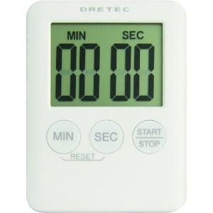 ドリテック デジタルタイマー 《ポケッティ》 最大セット時間99分59秒 ホワイト T-307WT