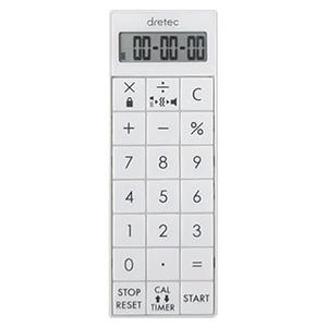 ドリテック 電卓付バイブタイマー 最大セット時間99時間99分99秒 CL-124WT