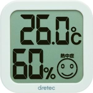 ドリテック デジタル温湿度計 熱中症・インフルエンザ警告付 ホワイト O-271WT