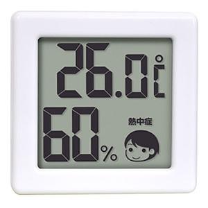 ドリテック 小さいデジタル温湿度計 熱中症・インフルエンザ警告付 ホワイト O-257WT