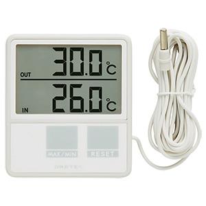 ドリテック 室内室外温度計 室内外温度同時表示 室外センサーコード長3m付 O-215WT