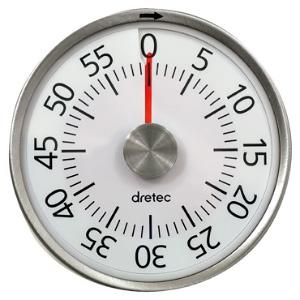ドリテック ダイヤルタイマー ゼンマイ式 最大セット時間60分 電池不要 T-315WT