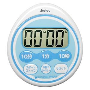 ドリテック 時計付防滴タイマー 最大セット時間99分50秒 防滴IPX2 ブルー T-543BL