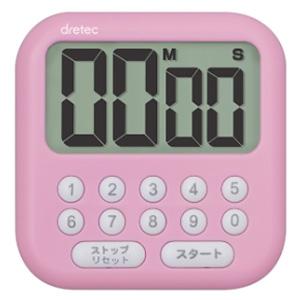 ドリテック 大画面タイマー 《シャボン10》 最大セット時間99分99秒 ピンク T-544PK