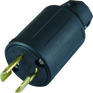 アメリカン電機 さし込みプラグ 引掛形 2P 20A 250V 圧着端子式・引締式 ナイロンカバータイプ 2222N
