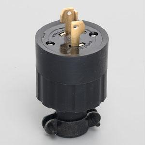 アメリカン電機 さし込みプラグ 引掛形 2P 30A 250V 圧着端子式 ゴムカバータイプ 2322R