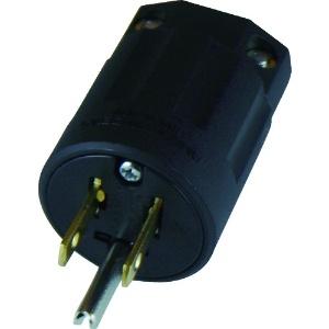 アメリカン電機 さし込みプラグ 平刃形 接地形2P 15A 125V 圧着端子式 ナイロンカバータイプ NEMA(5-15)規格 黒色 7112GN