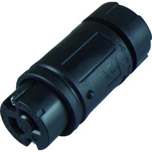 アメリカン電機 コードコネクタボディ 引掛形 2P 15A 125V 圧着端子式 ナイロンカバータイプ 黒色 2114N