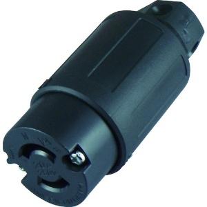 アメリカン電機 コードコネクタボディ 引掛形 2P 20A 250V 圧着端子式・引締式 ナイロンカバータイプ 2224N