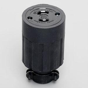 アメリカン電機 コードコネクタボディ 引掛形 2P 30A 250V 圧着端子式 ゴムカバータイプ 2324R