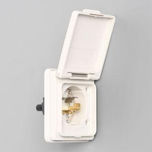アメリカン電機 防水形フランジインレット 引掛形 接地形2P 15A 125V 圧着端子式・引締式 取付ねじセット・絶縁カバー付 3115NW