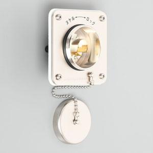 アメリカン電機 防水形フランジインレット 耐じん・噴流形 引掛形 接地形2P 15A 125V 圧着端子式・引締式 取付ねじ・絶縁カバー付 3115WJ