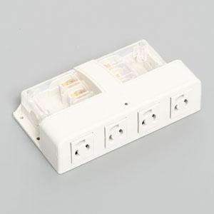 アメリカン電機 アクセスタップ™ コードなしタイプ 抜止形・4ヶ口 接地形2P 15A 125V 圧着端子式・引締式 AU1130