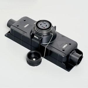 アメリカン電機 T型分岐用コネクタボディ 引掛形 入力:接地形3P・100A・250V 出力:接地形3P・60A・250V 圧着端子式 41024ET-60