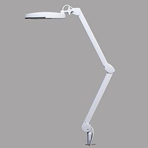 サンコー フレキシブルアームルーペ クランプ式 LED56灯 5W 倍率1.75倍 ルーペ径130mm FLLP563D