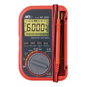 マザーツール ポケット型デジタルマルチメータ 6000カウントバーグラフ付多機能タイプ 電源切り忘れ防止機能付 MT-4095