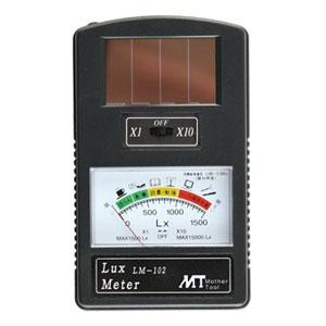 マザーツール ルックスメータ 簡易照度計 アモルファスソーラー電池使用 測定範囲0〜15000Lux LM-102