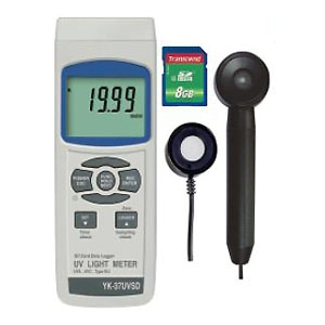 マザーツール デジタル紫外線強度計 SDスロット搭載 データロガ機能付 UVA・UVC波長領域測定 YK-37UVSD