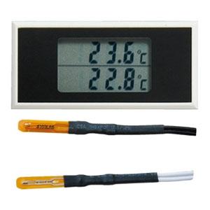 マザーツール デュアル表示温度モジュール 温度モニター用 サーミスタ式 測定範囲0〜90℃ MT-145