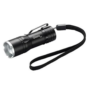 ヤザワ 【在庫限り】LEDズームライト 《GlanzR》 150lm 防水性能IPX4 USB充電式 L6GAZ15042BK