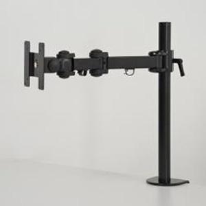 サンコー 4軸式くねくねモニターアーム 1面タイプ 耐荷重10kg クランプ式 ブラック MARMGUS192B