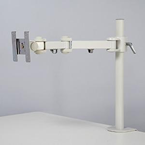 サンコー 4軸式くねくねモニターアーム 1面タイプ 耐荷重10kg クランプ式 ホワイト MARMGUS1920W