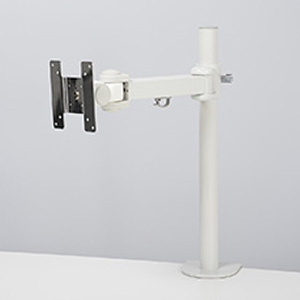 サンコー 3軸式くねくねモニターアーム 1面モデル 耐荷重10kg クランプ式 ホワイト MARMGUS1910W