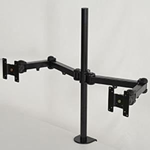 サンコー 8軸式ロングくねくねデュアルモニターアーム 2面モデル 耐荷重各10kg クランプ式 MARMGUS11L