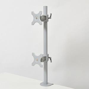 サンコー 4軸式デュアルモニタースタンド 2面モデル 耐荷重各10kg クランプ式 MARMGUS22V