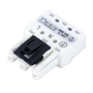 ネグロス電工 コネクタソケット 《ネグレッツ®ウェイ》 銅線1.6・2.0mm用 ホワイト LWGCS3J1