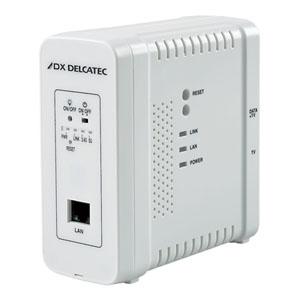 DXアンテナ 【受注生産品】《DXデルカテック》 無線LAN付高速同軸線モデム 子機 自動登録タイプ 子機間通信不可 2K・4K・8K対応 最大通信速度1Gbps ECG12W1S