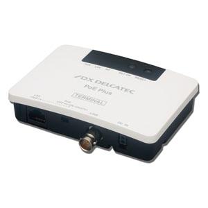 DXアンテナ 《DXデルカテック》 給電機能付IPカメラアダプター PoE対応同軸モデム ターミナル子機 最大通信速度240Mbps EOCP10T1