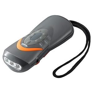 ヤザワ 手回し充電ラジオライト 白色LED×3灯 USB充電対応 AM/FMラジオ・緊急ブザー付 BS801GY