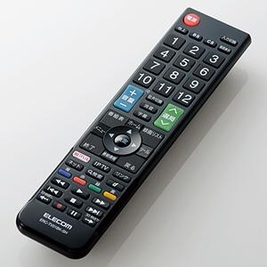 ELECOM 【生産完了品】かんたんTV用リモコン シャープ社製アクオス用 ERC-TV01BK-SH