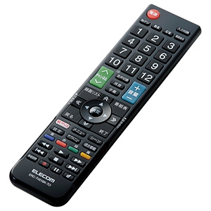 ELECOM 【生産完了品】かんたんTV用リモコン 東芝社製レグザ用 ERC-TV01BK-TO