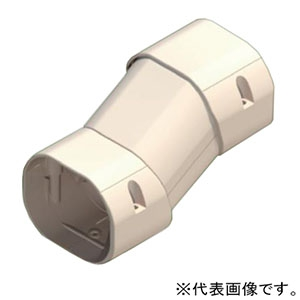 KANTO 【お買い得品 10個セット】フリー段差ジョイント 可動式 30mmまでの段差対応 長さ132〜140mm アイボリー KFDJ-70I_set