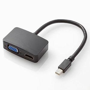 ELECOM HDMI-VGA変換アダプタ 3重シールドタイプ 長さ0.15m TB-MDPHDVGABK