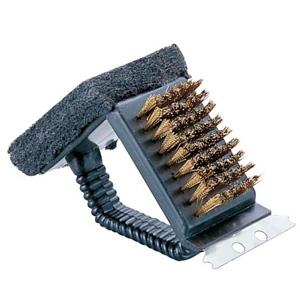 パール金属 レスト 鉄板焼器・アミ用ブラシ(トライアングル) 《CAPTAIN STAG》 M-7634