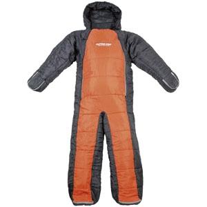 パール金属 洗える人型シュラフ 寝袋 着るタイプ 約62×190cm 収納バック付 オレンジ×グレー 《CAPTAIN STAG》 UB-9